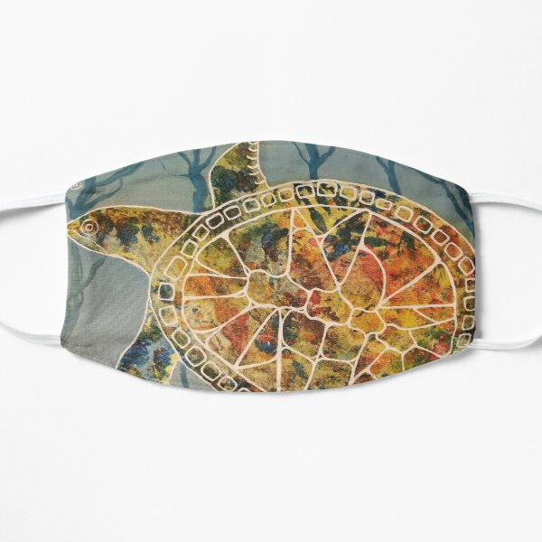 Tie Dyed Turtle Flat Mask