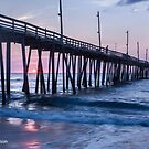 Sunrise at Rodanthe Pier by Deb Snelson