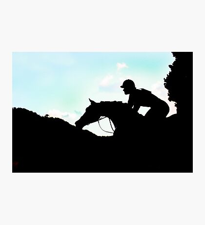Jockey Silhouette  Photographic Print