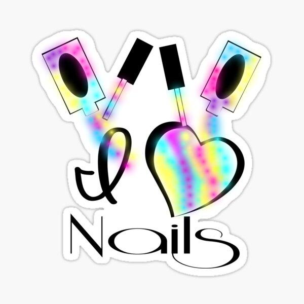 I love Nails Sticker