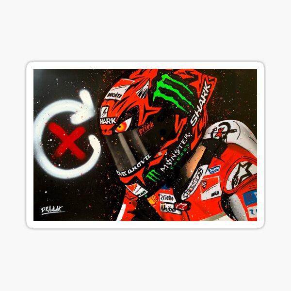 Jorge Lorenzo, Ducati - MotoGP graffiti painting by DRAutoArt Sticker