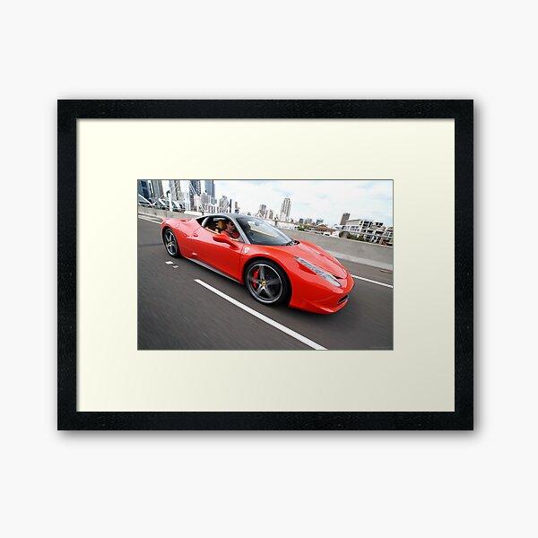 Ferrari 458 Italia Framed Art Print