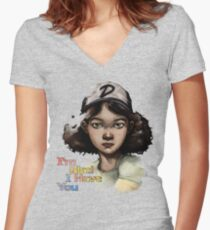 Clementine Women's Fitted V-Neck T-Shirt