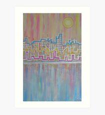 sea side sky line Art Print