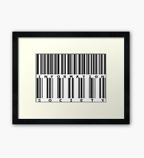 Information society, for nerds and geeks Framed Print