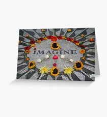 Imagine, Strawberry Fields, NYC Greeting Card