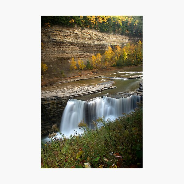 Lower Falls in Autumn Photographic Print
