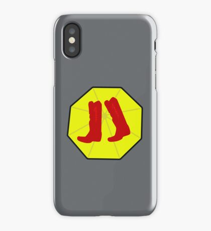 Red Boots and Yellow Umbrella iPhone Case