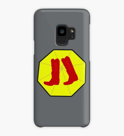 Red Boots and Yellow Umbrella Case/Skin for Samsung Galaxy