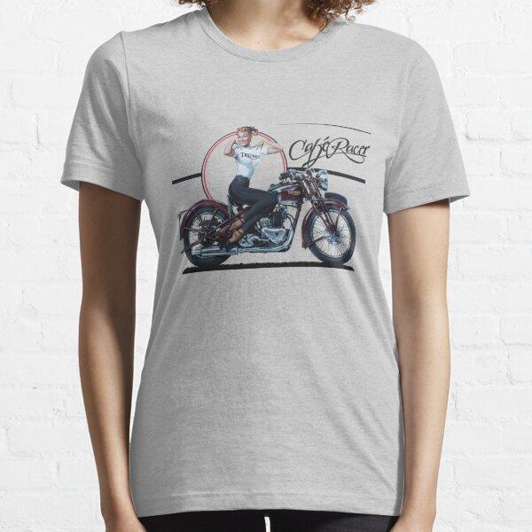 Triumph Cafe Racer Girl Camiseta esencial