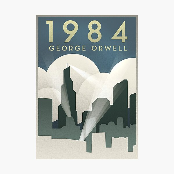 George Orwell - 1984, Art Deco Poster Photographic Print