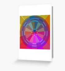 Color Pie Number Two Greeting Card