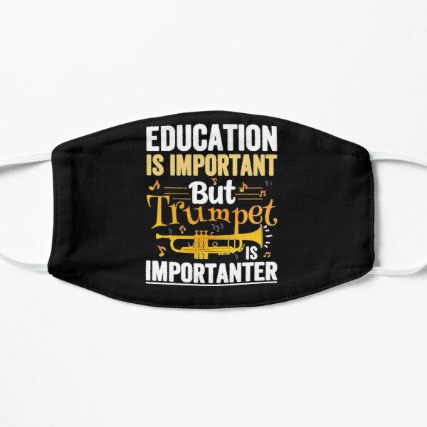 Induction is important but trumpet is importanter Flat Mask