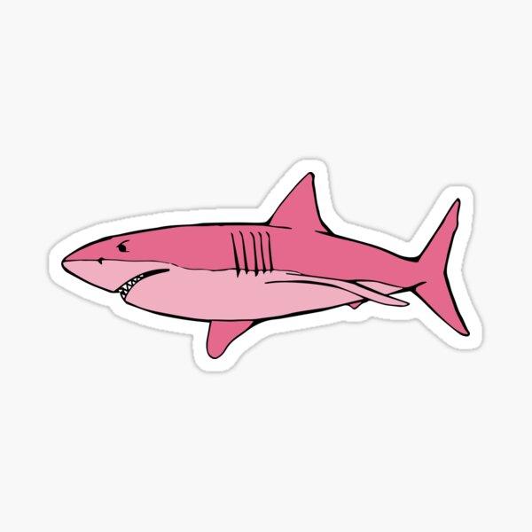 Pink Shark (Deep Sea Diving) Sticker
