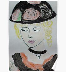 beauty with hat Poster