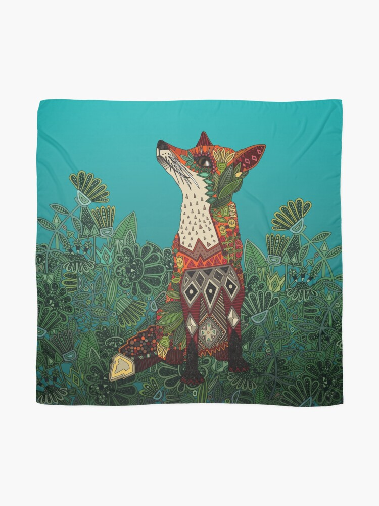 Alternate view of floral fox Scarf