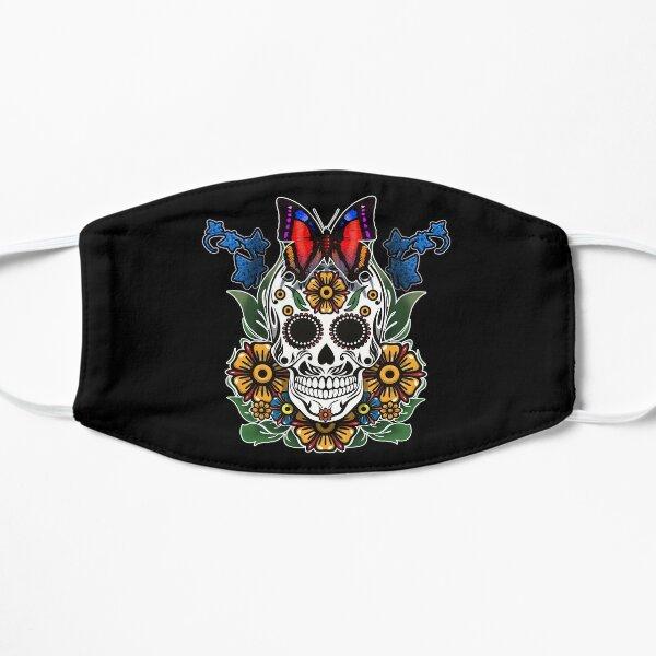 Butterfly flower skull Flat Mask