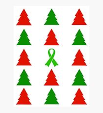O' Christmas Tree! (Lyme Awareness)  Photographic Print