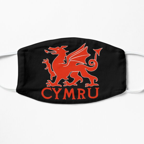 welsh red dragon cymru Flat Mask