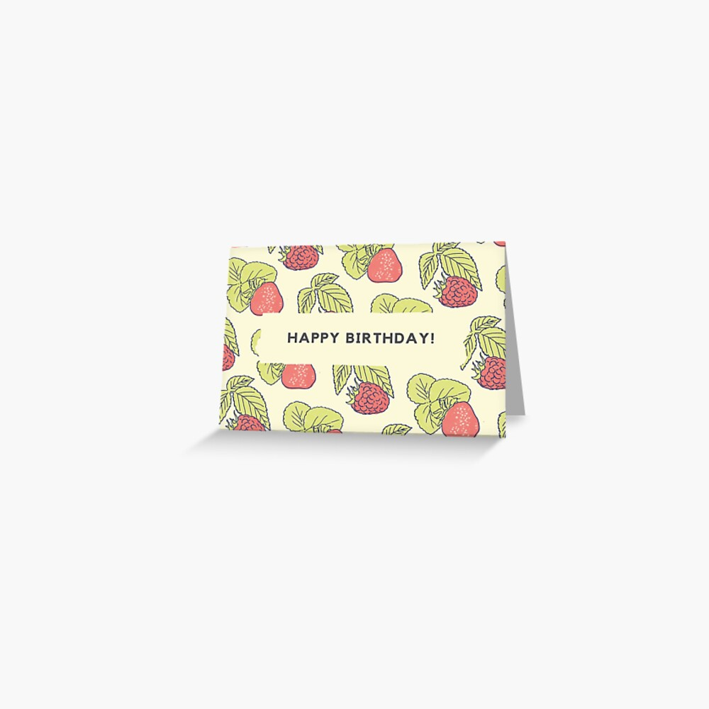 Berry Fields - Birthday Card Greeting Card