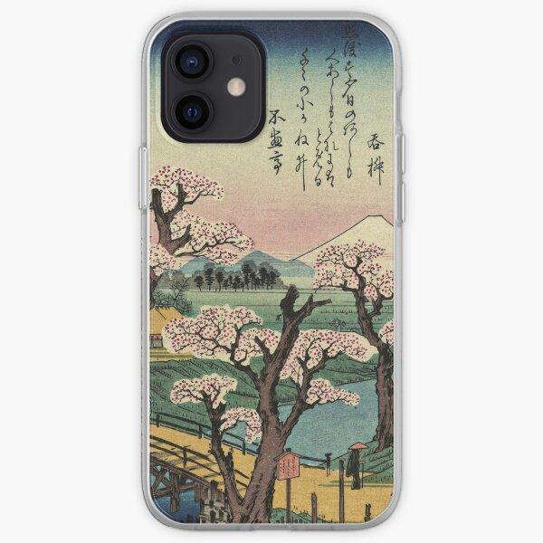 Ando Hiroshige - Evening Glow at Koganei Bridge iPhone Soft Case