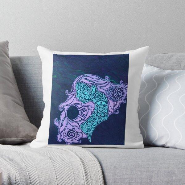 Cameo Mandala Throw Pillow