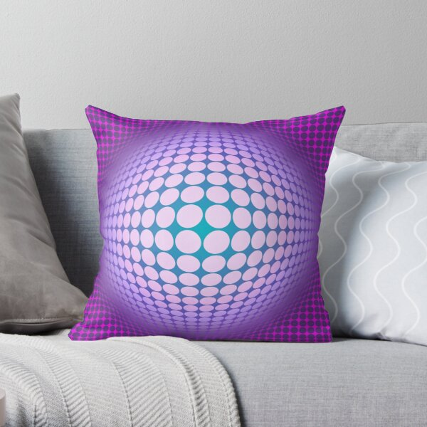 Victor Vasarely Homage 60 Throw Pillow