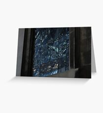Stained glass window at night Greeting Card