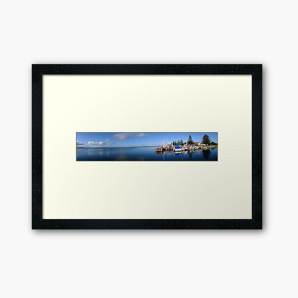 Panorama - Port Albert Harbour, Victoria Framed Art Print