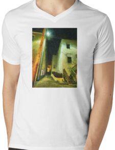 Night Alleyway Mens V-Neck T-Shirt