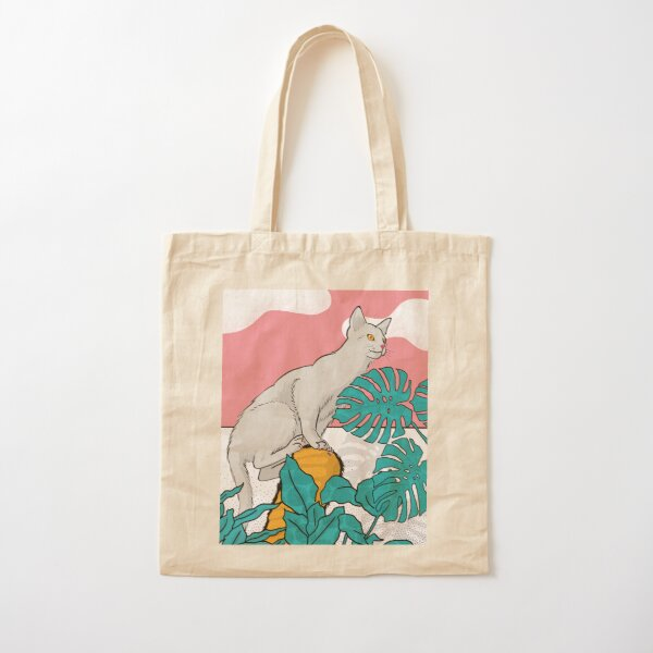 My cat the jungle explorer Cotton Tote Bag
