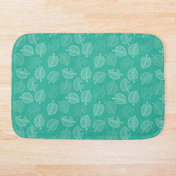 Nook leaf in turquoise Bath Mat