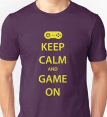 KEEP CALM and GAME ON (yellow) T-Shirt