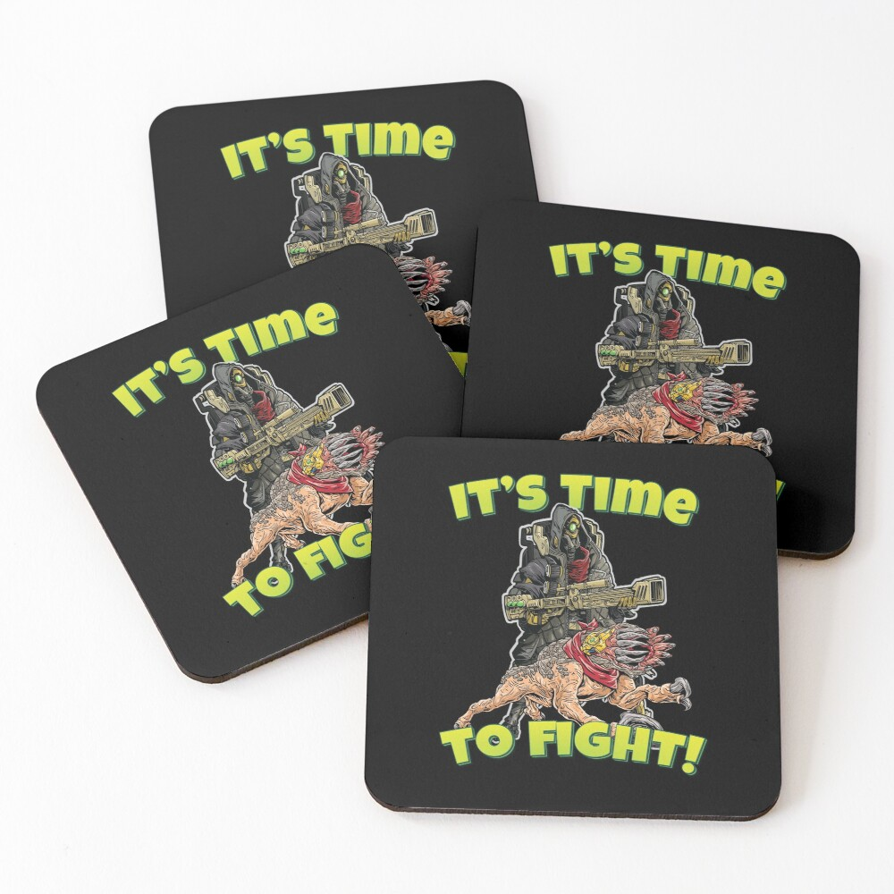 It's Time To Fight! FL4K The Beastmaster With Guard Skag Borderlands 3 Rakk Attack! Coasters (Set of 4)