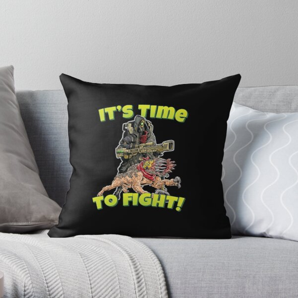 It's Time To Fight! FL4K The Beastmaster With Guard Skag Borderlands 3 Rakk Attack! Throw Pillow