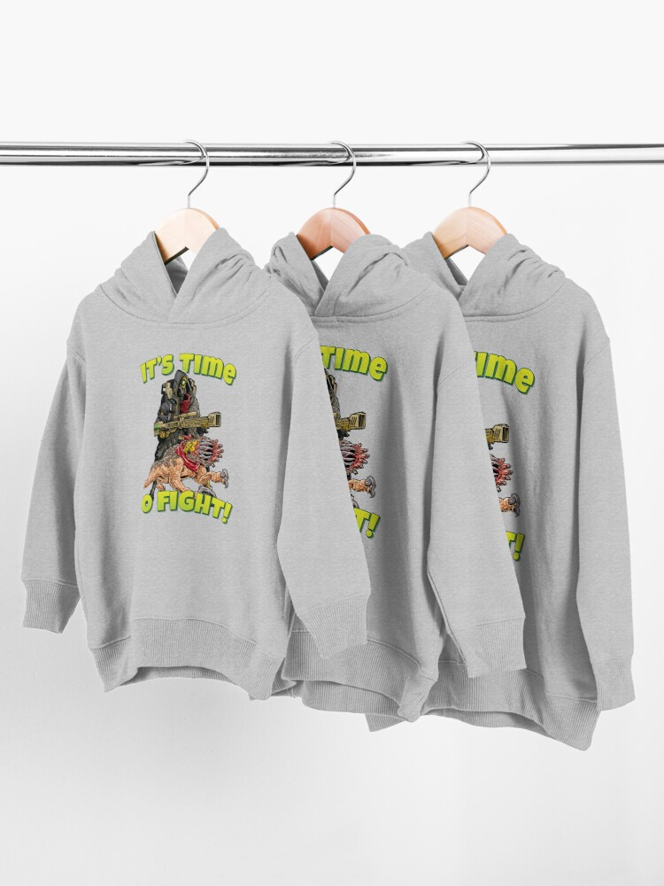 Alternate view of It's Time To Fight! FL4K The Beastmaster With Guard Skag Borderlands 3 Rakk Attack! Toddler Pullover Hoodie