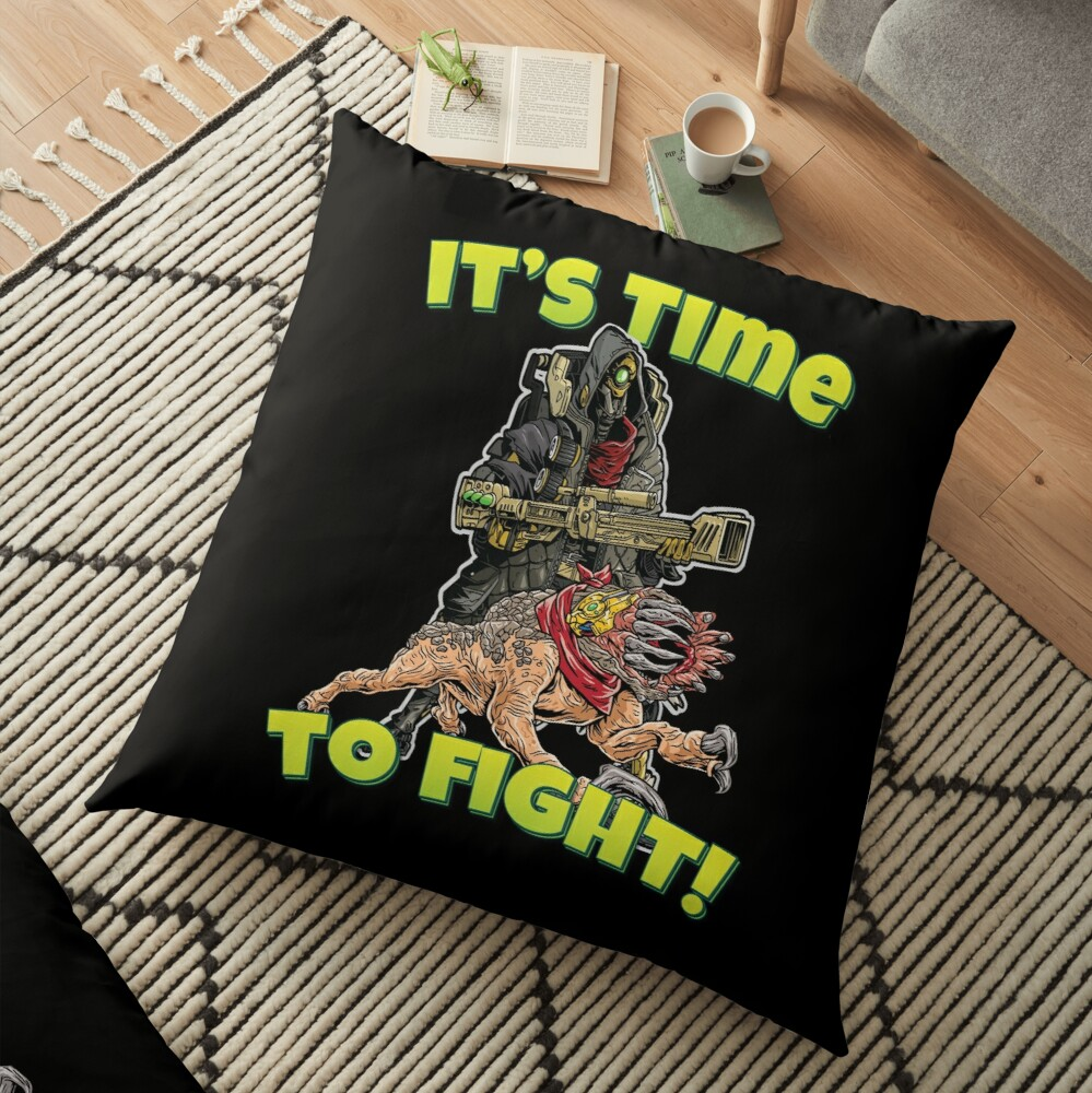 It's Time To Fight! FL4K The Beastmaster With Guard Skag Borderlands 3 Rakk Attack! Floor Pillow
