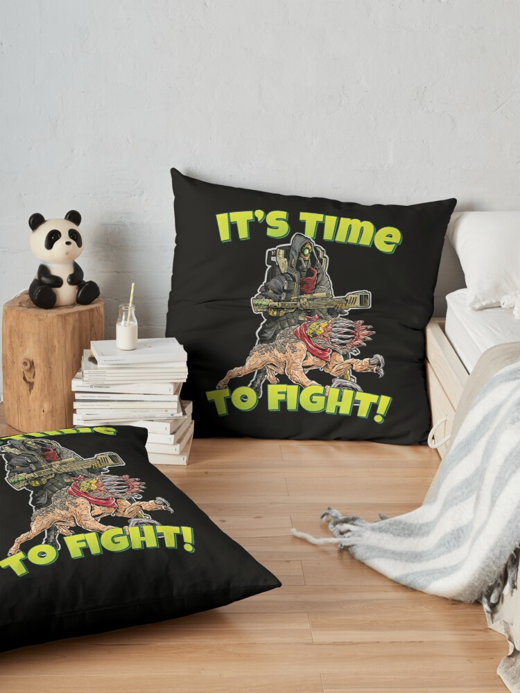 Alternate view of It's Time To Fight! FL4K The Beastmaster With Guard Skag Borderlands 3 Rakk Attack! Floor Pillow