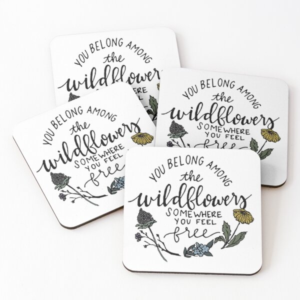 Among the Wildflowers Coasters (Set of 4)