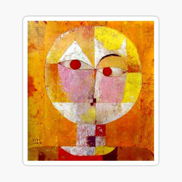 """Senecio"" | Paul Klee Meisterwerk Kunst Sticker"