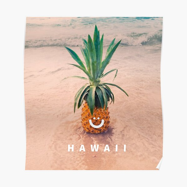 Hawaiian Art Collectible Refrigerator Magnet Happy Isles Brand Pineapple Vintage Label