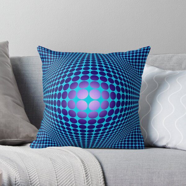 Victor Vasarely Homage 61 Throw Pillow