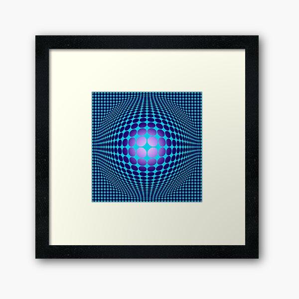 Victor Vasarely Homage 61 Framed Art Print