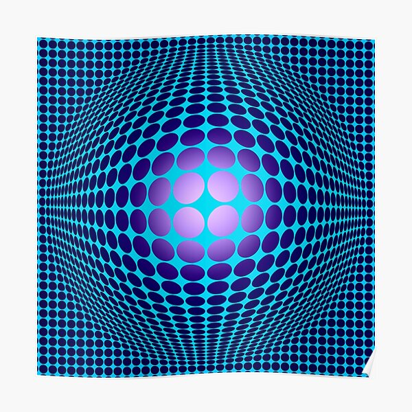 Victor Vasarely Hommage 61 Poster