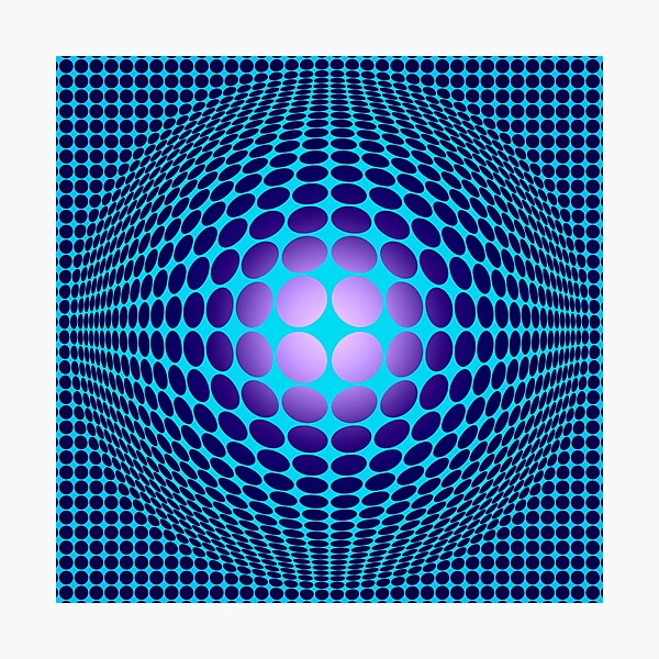 Victor Vasarely Homage 61 Photographic Print