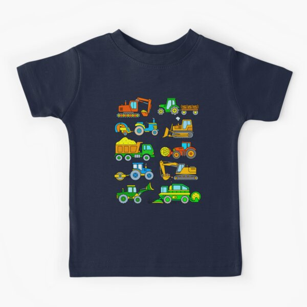 Diggers Tractors for Kids Kids T-Shirt