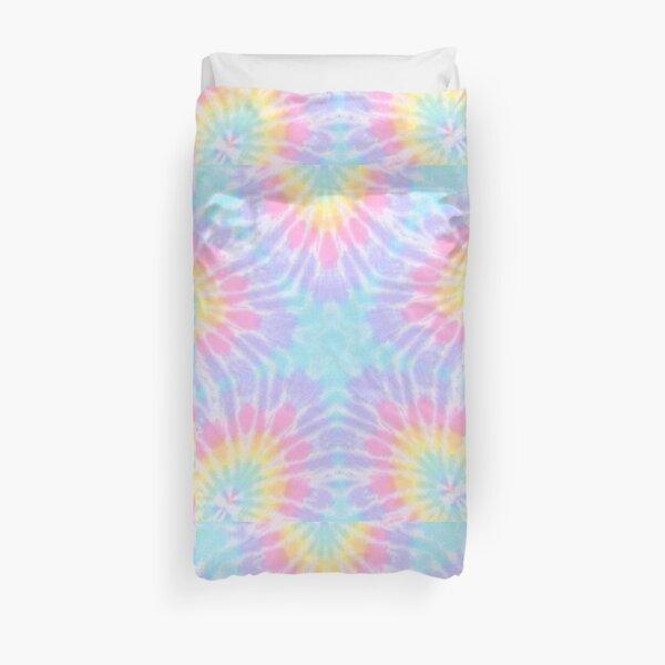 Pastel Tie Dye Hippie Vibes Kalidoscope Art Duvet Cover
