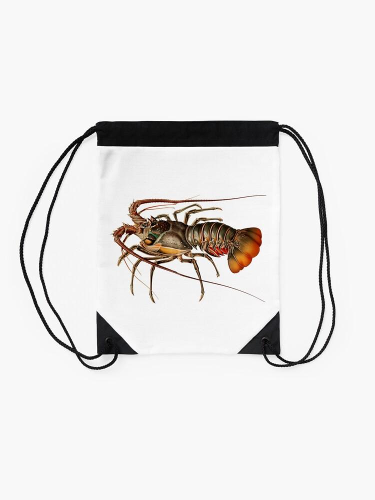 Alternate view of Vintage Spiny Lobster Drawstring Bag