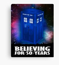 DR WHO BELIEVING Canvas Print