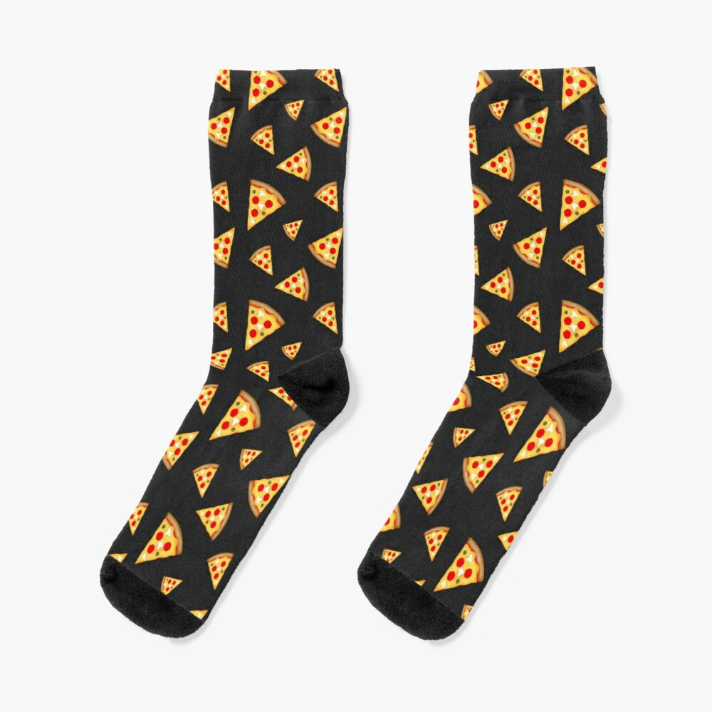 Cool and fun pizza slices pattern Socks